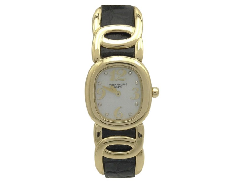 Patek Philippe Ellipse 4830J 18K Yellow Gold & Mother of Pearl Dial 23mm Womens Watch