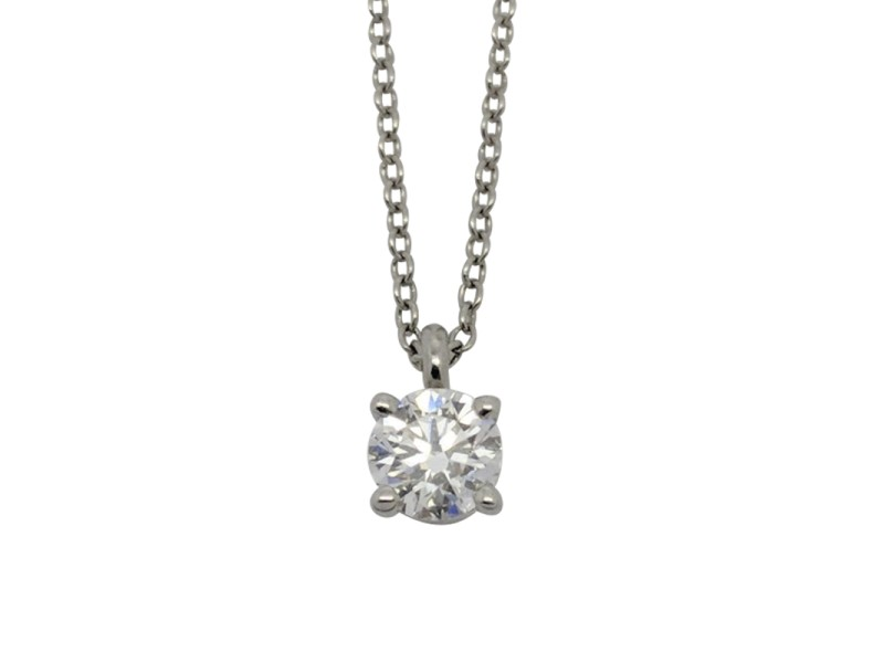 Tiffany & Co. Platinum with 0.35ct. Diamond Solitaire Necklace