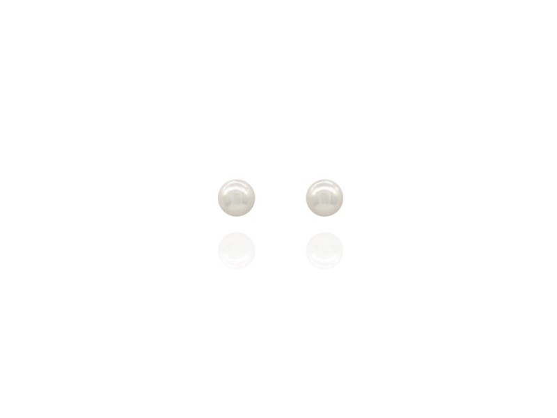 Tiffany & Co. Signature 18K Yellow Gold with Akoya Pearl Stud Earrings