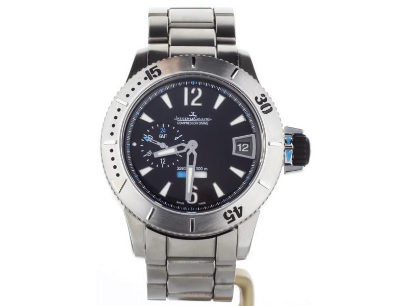 Jaeger Lecoultre Master Compressor GMT Q187t170 44mm Mens Watch