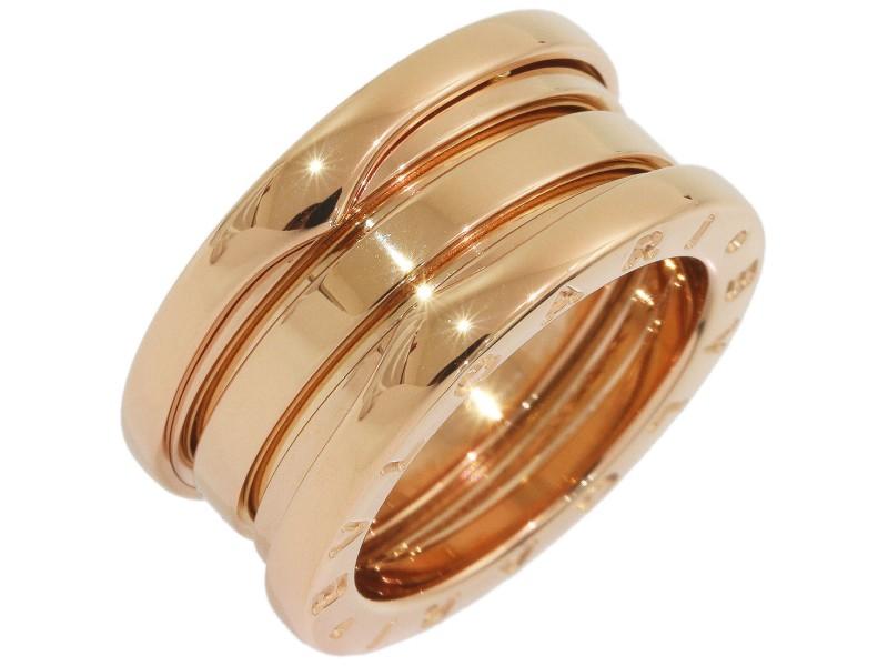 Bulgari Bvlgari 18K Rose Gold Ring Size 3.75