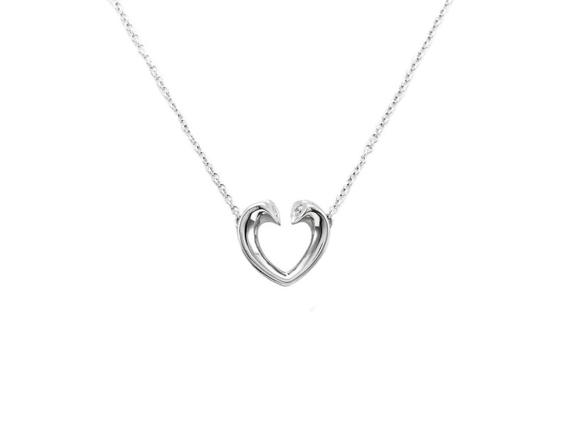 Tiffany & Co. Sterling Silver Diamond Necklace