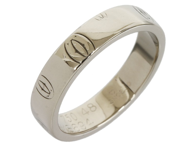 Cartier Happy 18K White Gold Wedding Ring Size 4.75