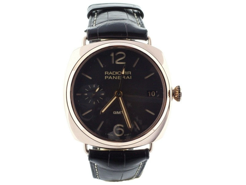 PANERAI RADIOMIR 47MM GMT 18KRG PAPERS ONLY REF: PAM 421