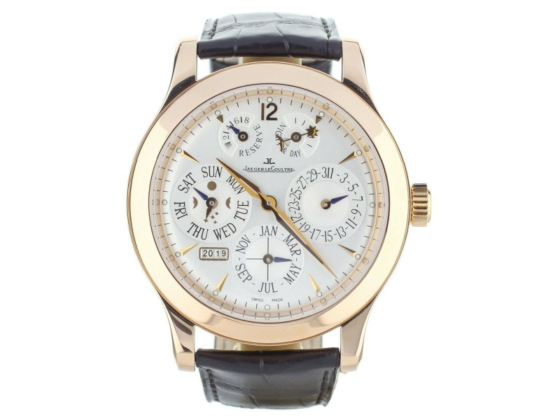 Jaeger LeCoultre 146.2.26.S Master Control Perpetual Calendar Rose Gold 42mm