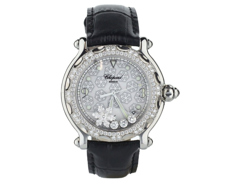 "Chopard Happy sport ""Snowflake"" quartz 38mm Complete set ref: 28/8946"