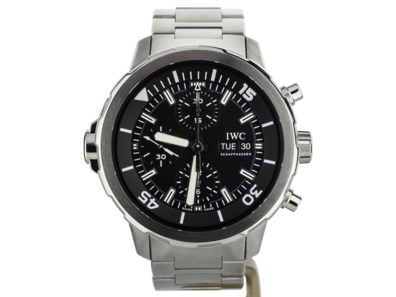 IWC Aquatimer Chronograph Stainless Steel Black Dial 44mm IW376804