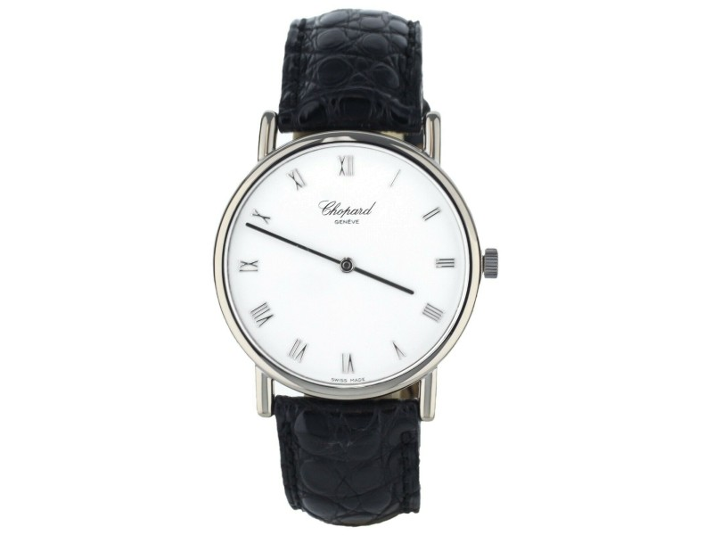 CHOPARD WHITE GOLD 987 LUS MANUAL WIND WATCH 34MM COMPLETE SET