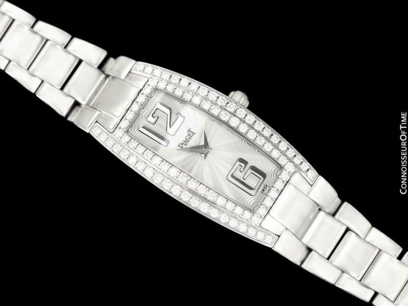 PIAGET LIMELIGHT Ladies 18K White Gold & Diamond Watch - $57,255 Retail - Mint