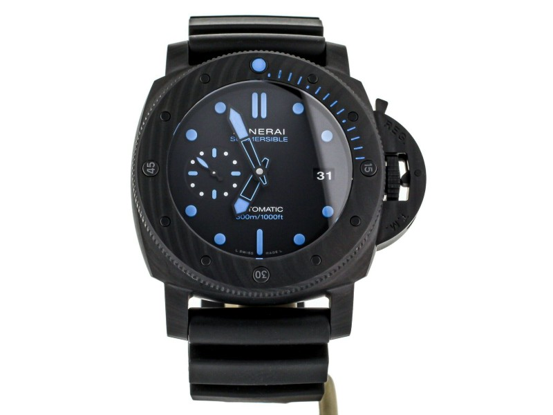 PANERAI LUMINOR SUBMERSIBLE 47MM CARBOTECH REF: PAM 1616  COMPLETE SET