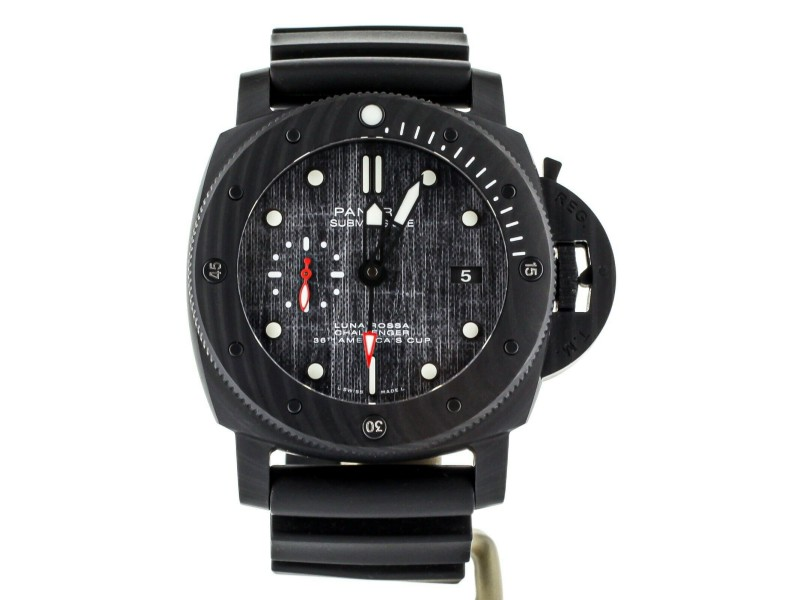 Panerai Submersible Luna Rossa Carbotech Rubber Strap 47mm PAM1039 Full set