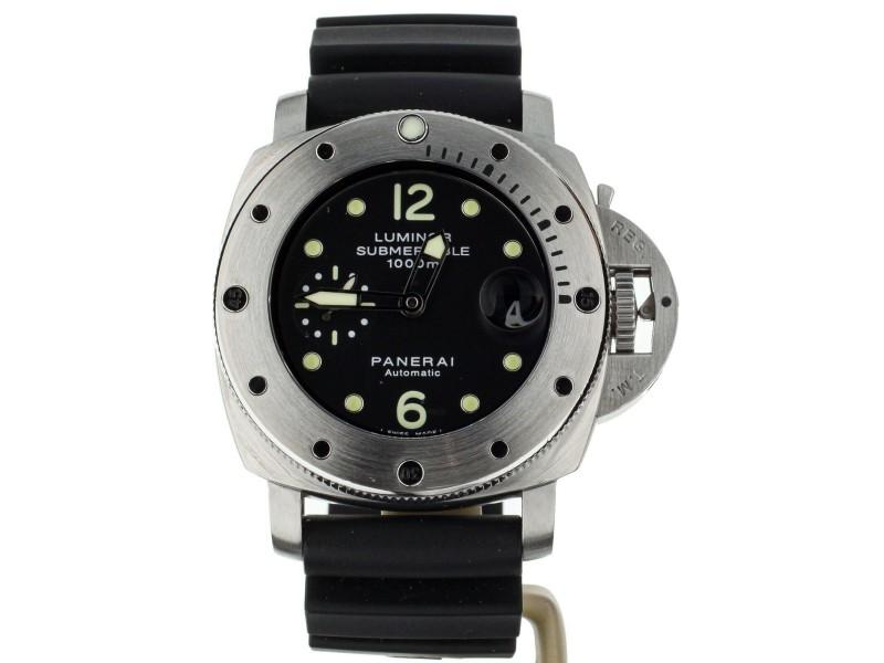 Panerai Luminor 1950 Submersible PAM243 44mm Automatic Black Dial 1000m