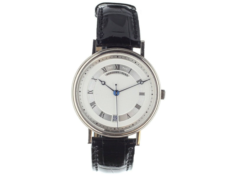 Breguet Classique Automatic White Gold Silver Dial 35mm 5930 Full Set