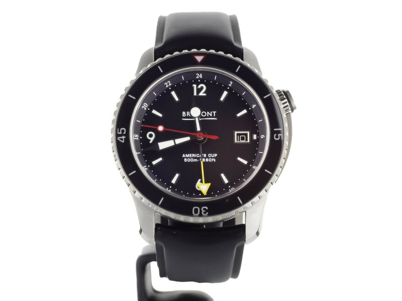 BREMONT SUPERMARINE AMERICAS CUPSTAINLESS STEEL 43MM AC-TI-GMT FULL SET