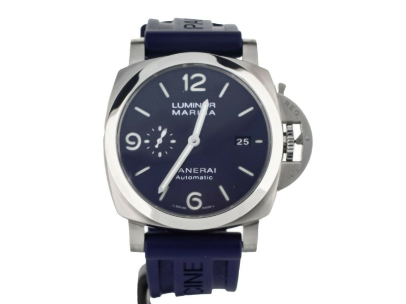 Panerai Luminor 1950 Marina 44mm Stainless Steel Blue Dial PAM1313 Full Set