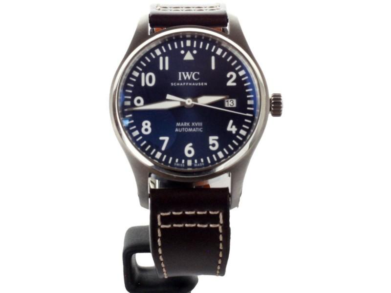 IWC Pilots Mark XVIII 40mm Le Petit Prince Blue Dial ref IW327010 Complete Set