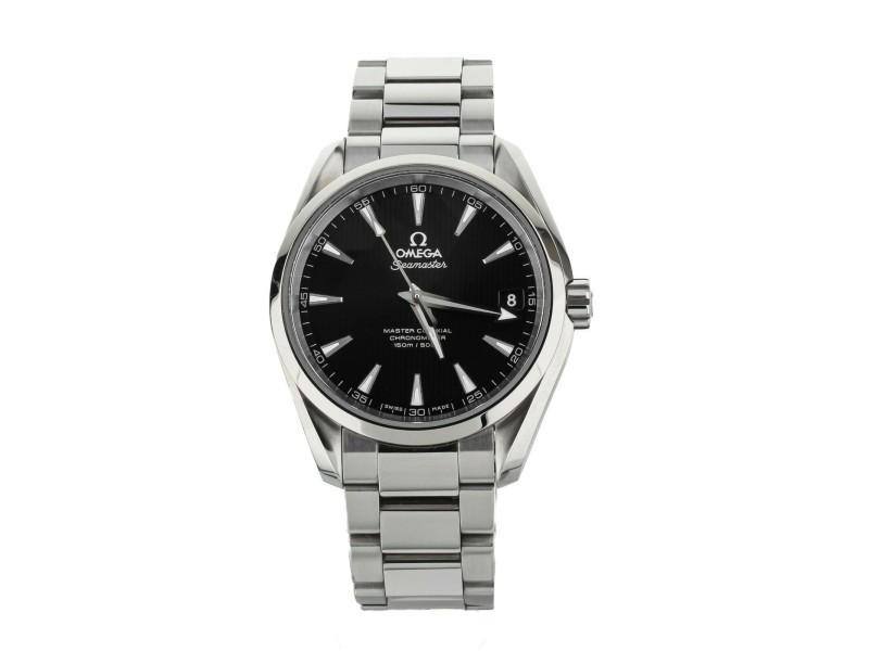 Omega Seamaster aqua terra Black Stainless Steel bracelet 38mm 23110392101002