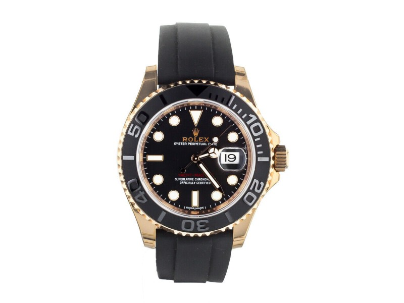 ROLEX YACHT-MASTER 40MM ROSE GOLD ON OYSTERFLEX STRAP COMPLETE SET REF:116655
