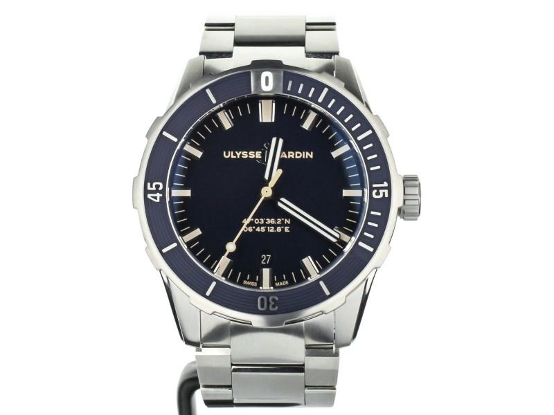Ulysse Nardin Marine Diver on Bracelet 42mm Complete Set Ref: 8163-175-7M/93