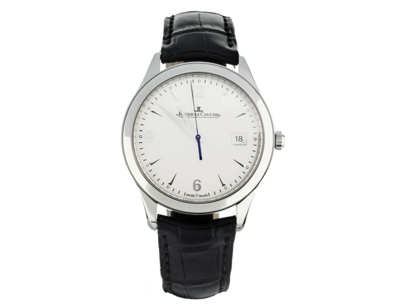 Jaeger LeCoultre Master Control Date Silver Dial 39mm Q1548420 Full Set