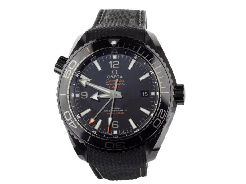 OMEGA PLANET OCEAN DEEP BLACK GMT CERAMIC 45mm 21563462201001 FULL SET