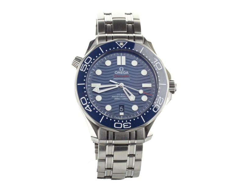 Omega Seamaster Diver 300m Co-Axial Blue Dial 42mm 21030422003001 Full Set