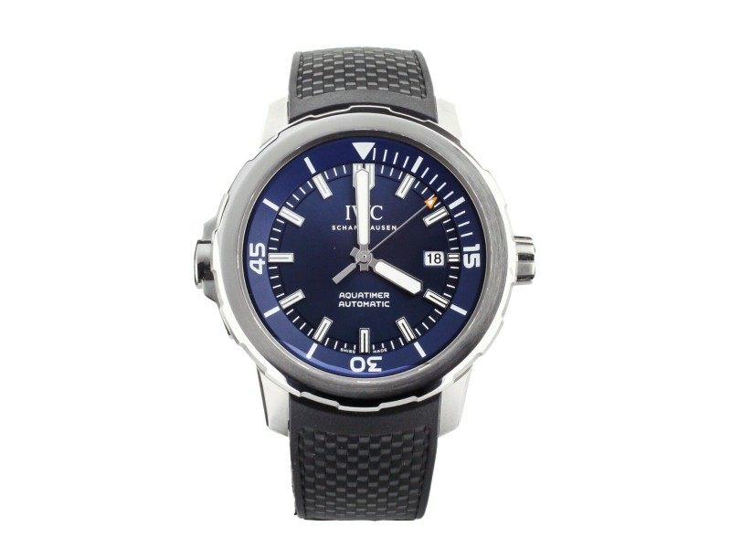 IWC AQUATIMER JACQUES COUSTEAU STAINLESS STEEL  BLUE DIAL 42MM IW329005 FULL SET