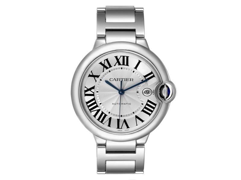 Cartier Ballon Bleu 42 Steel Automatic Mens Watch W69012Z4