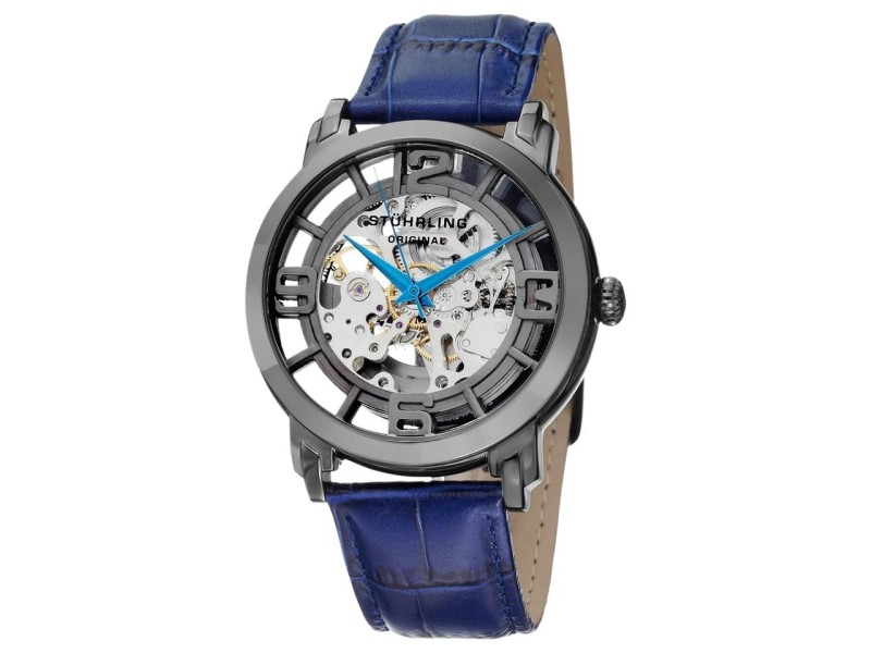 Stuhrling Winchester 44 165B2.33FC69 Stainless Steel & Leather 43mm Watch