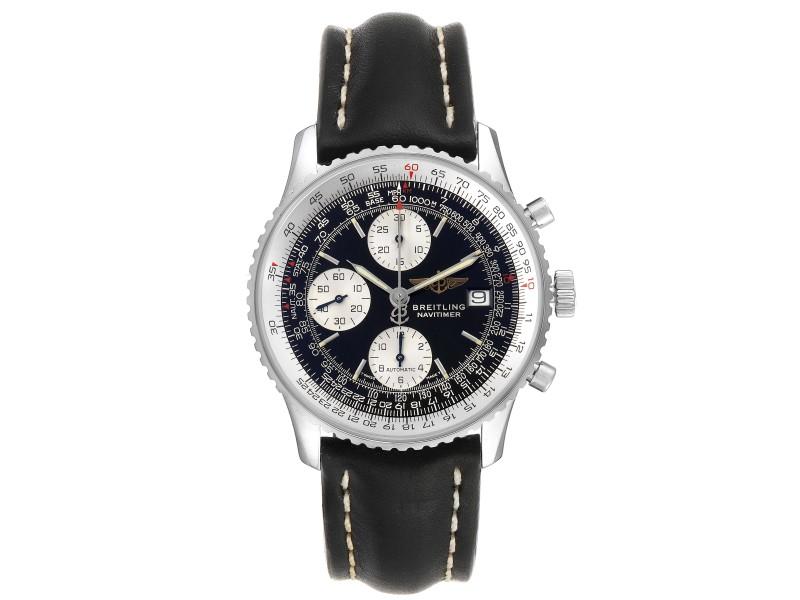 Breitling Navitimer II Black Dial Steel Mens Watch A13022
