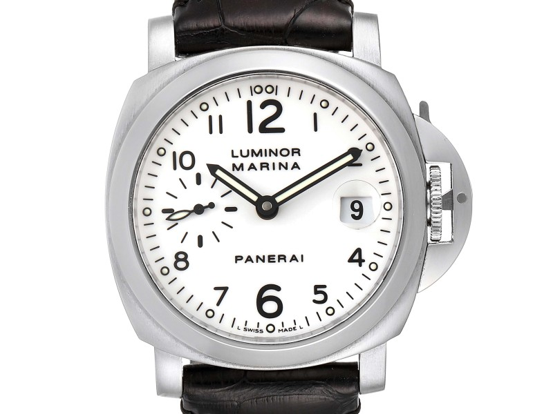 Panerai Luminor Marina 40 White Dial Mens Watch