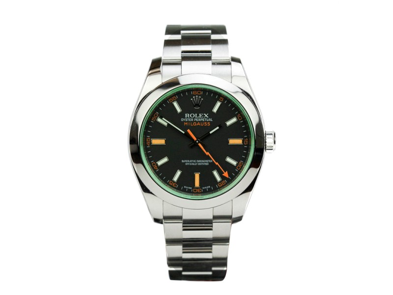 Rolex Milgauss Green Sapphire Crystal Automatic Watch 116400V 116400