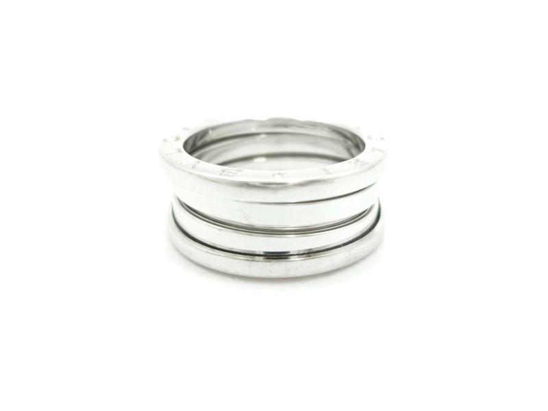 BVLGARI 18K White Gold B-ZERO 1 Ring US size 6.75