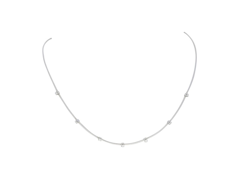 Marco Bicego 18K White Gold with 0.28ct Diamond Goa Necklace