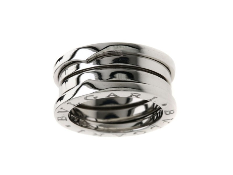 Bulgari B-Zero 1 18K White Gold Ring Size 4.5
