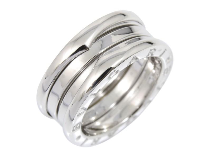 Bvlgari BULGARI 18K White Gold Ring Size 4.75