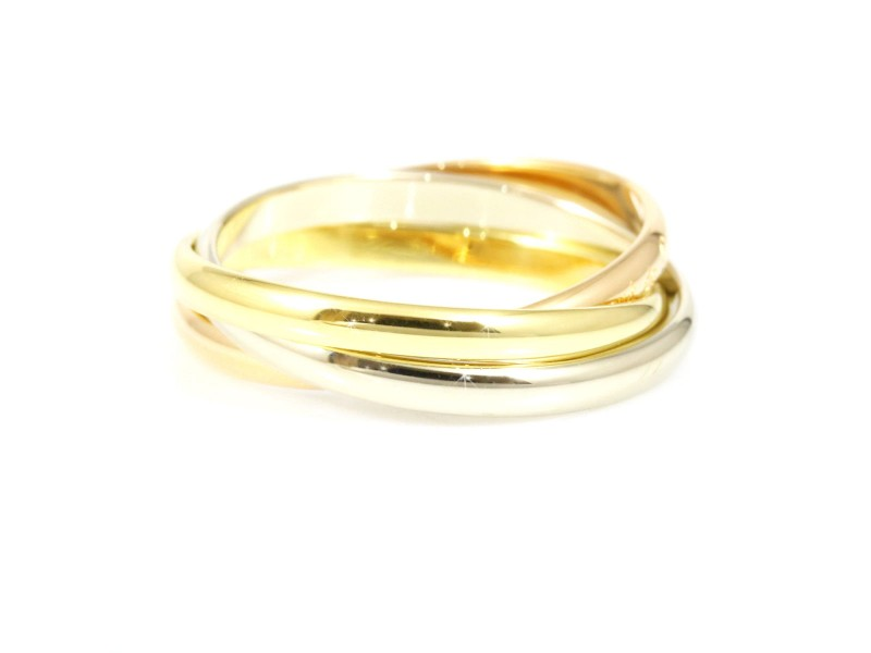 Cartier 18K White Rose & Yellow Gold Ring Size 5