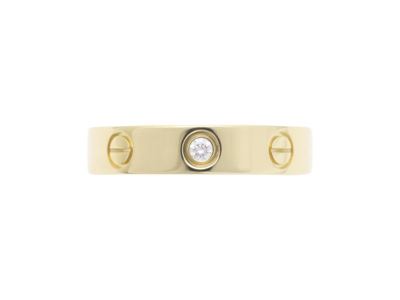 Cartier Mini Love 18K Yellow Gold Ring Size 4.75