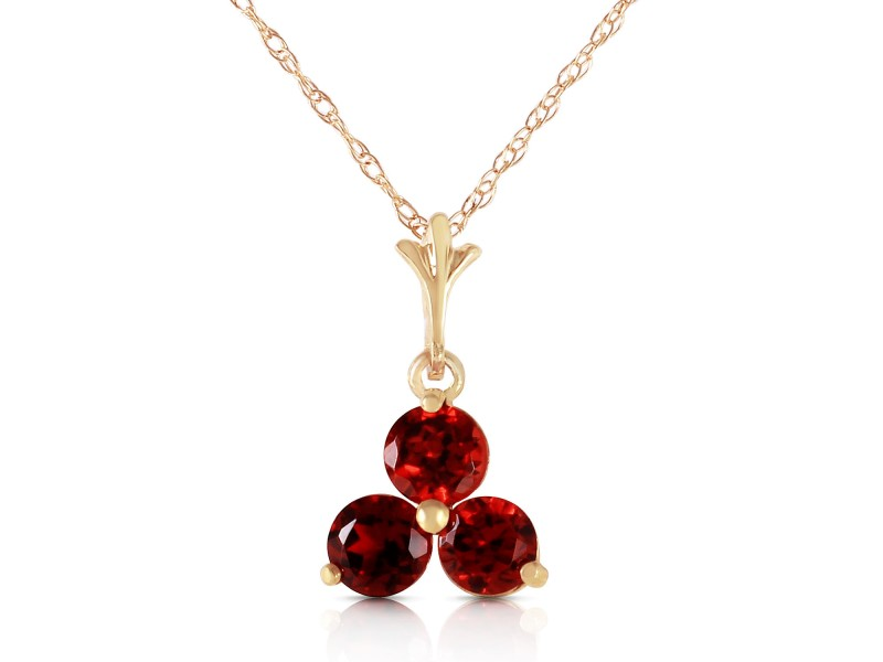 0.75 CTW 14K Solid Gold Have Your Cake Garnet Necklace