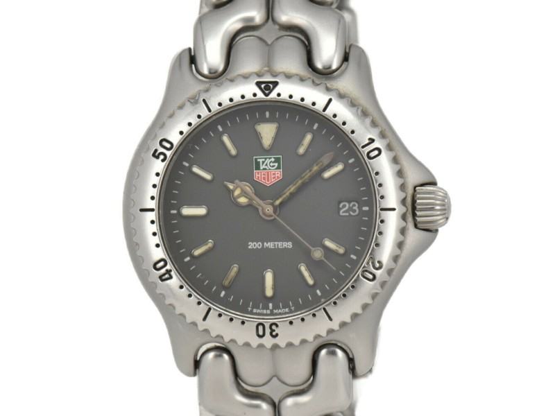 TAG HEUER S/el S99.213M Gray Dial Stainless Steel Quartz Boy's Watch