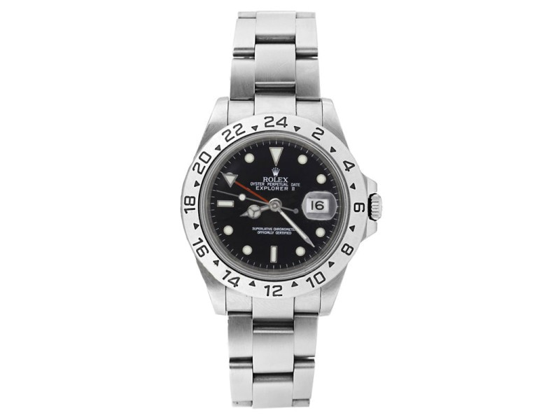 Rolex Explorer ll 16570 Stainless Steel Black Face Mens Watch