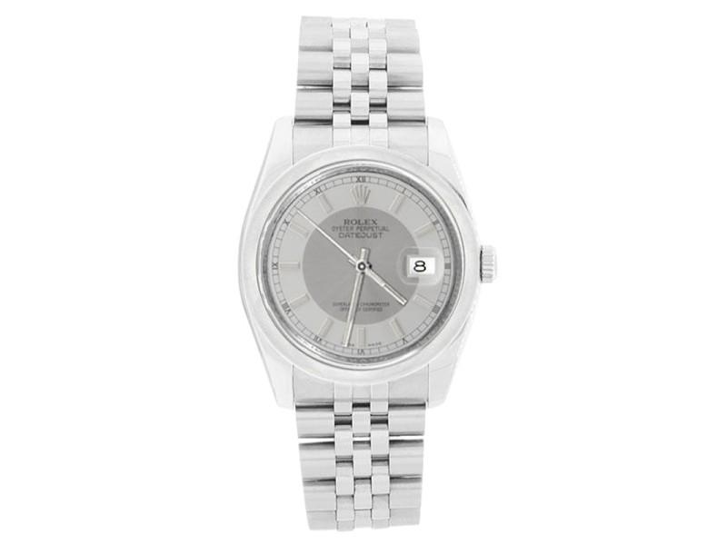 Rolex Datejust 116200 Jubilee Stainless Steel Silver Tuxedo Dial Watch