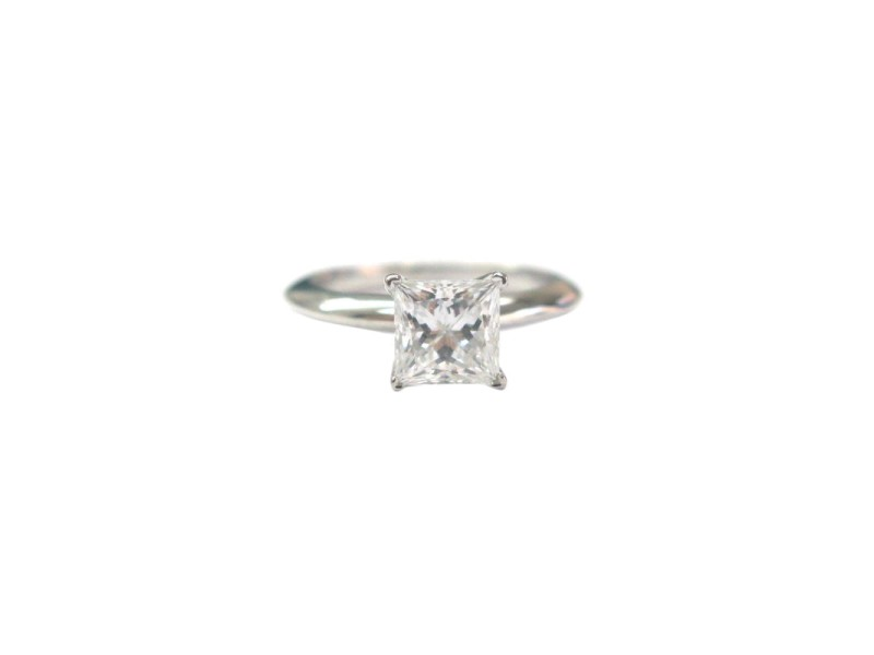 Tiffany & Co. PT950 Platinum with 1.07ct Solitaire Diamond Ring Size 4.5