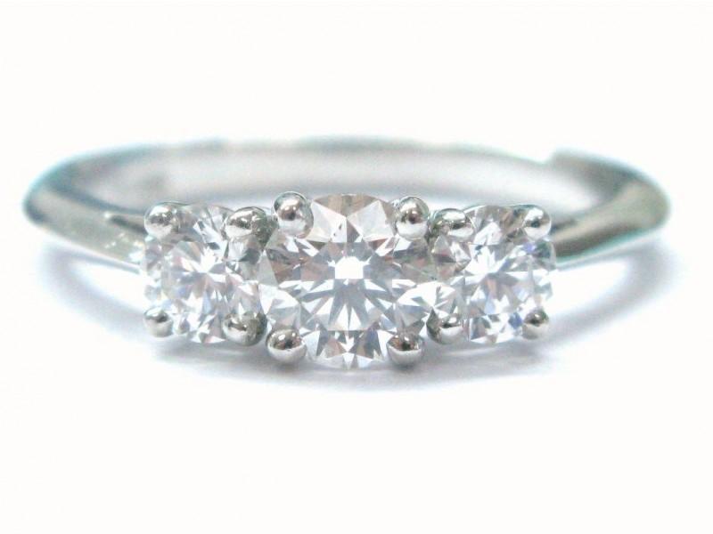 Tiffany & Co. Platinum 3 Stone Diamond Engagement Ring