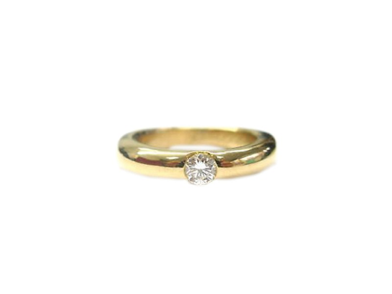 Cartier 18K Yellow Gold Diamond Solitaire Ring