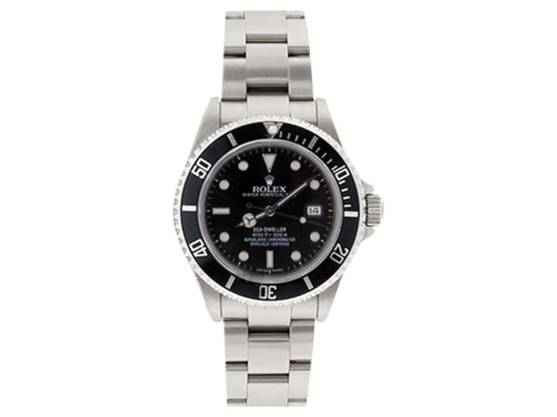 Rolex Sea Dweller 16600 Stainless Steel Black Dial Black Bezel Mens Watch