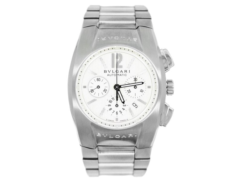 Bvlgari Ergon EG 35 S Ch White Dial Date Chronograph Automatic Watch