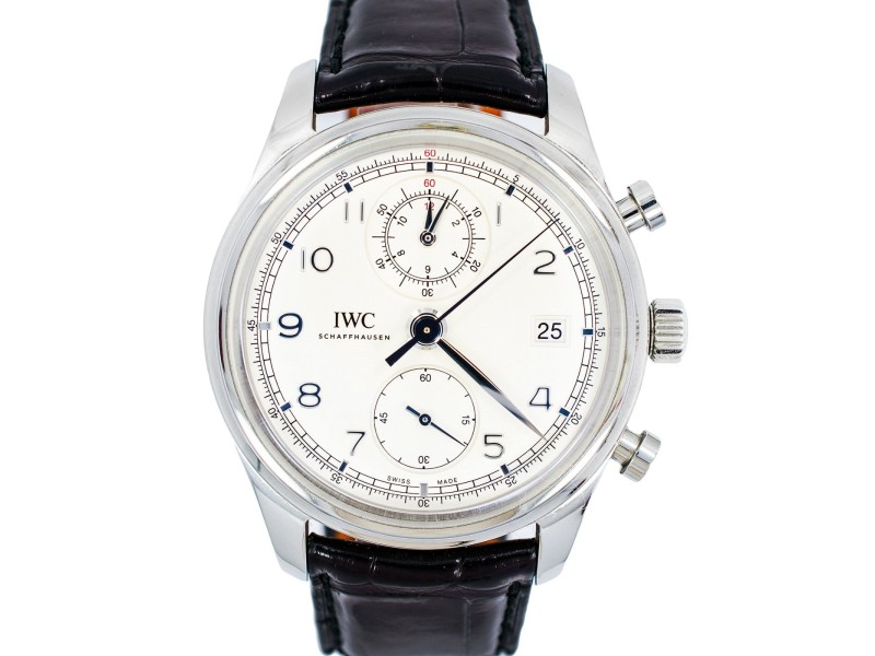 IWC Schaffhausen IW390403 White Dial Stainless Automatic Power Reserve Men's