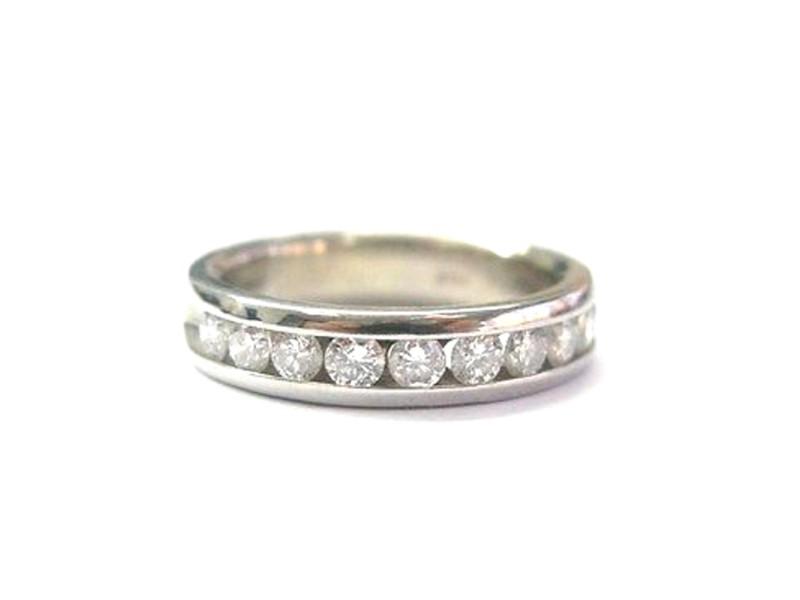 14K White Gold & Diamond Channel Setting Ring