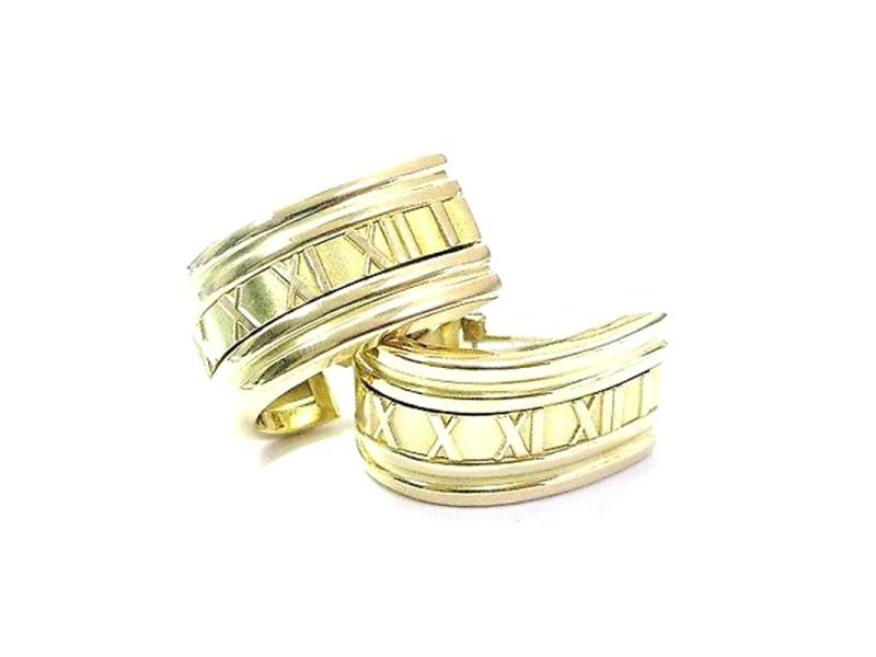 Tiffany & Co. Atlas 18K Yellow Gold Huggie Earrings